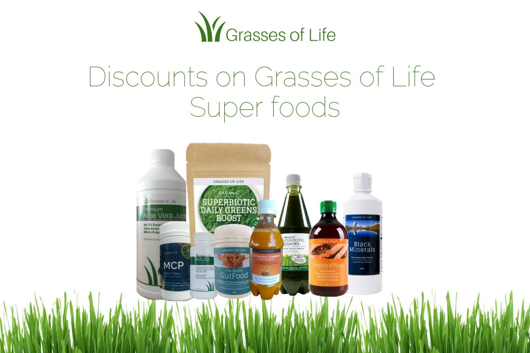 Discounts on Grasses of Life Superfoods